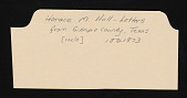 view Emily Hall Tremaine papers digital asset: Family, Hall, Horace M. (uncle)