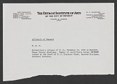 view Wilhelm Reinhold Valentiner papers digital asset: Affidavit of Support: circa 1935