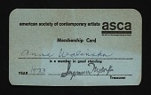 view Anna Walinska papers digital asset: American Society of Contemporary Artists Membership Card