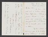 view Letters to John F. Weir, Thompson, Launt digital asset: Letters to John F. Weir, Thompson, Launt