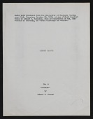 """view Other Writings, Transcript of Radio Broadcast on Thayer's """"Caritas"""" by Edward W. Rannells digital asset: Other Writings, Transcript of Radio Broadcast on Thayer's """"Caritas"""" by Edward W. Rannells"""
