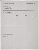 view Consignment Receipts, Kraushaar Galleries digital asset: Consignment Receipts, Kraushaar Galleries
