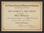 view Ellis Wilson papers digital asset: Certificates