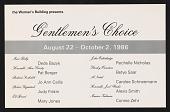 "view ""Gentlemen's Choice"" Typesetting digital asset: ""Gentlemen's Choice"" Typesetting"