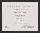 view Introduction to an exhibit of the works of Kofi Antubam digital asset: Introduction to an exhibit of the works of Kofi Antubam