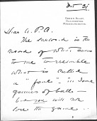 view Cecilia Beaux Letters to A. Piatt Andrew digital asset: Cecilia Beaux Letters to A. Piatt Andrew