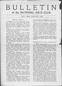 view Bulletin of the National Arts Club digital asset: Bulletin of the National Arts Club