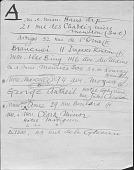 view Alexander Calder papers digital asset: Address Lists