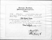 view John Steuart Curry and Curry family papers digital asset: Awards and Membership Certificates
