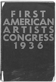 view American Artists Congress, Conference Proceedings, First American Artists Congress against War and Fascism digital asset: American Artists Congress, Conference Proceedings, First American Artists Congress against War and Fascism