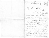 view Letters from Frederic Edwin Church digital asset: Letters from Frederic Edwin Church