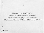 view Mathieu, Pierre-Louis digital asset: Mathieu, Pierre-Louis
