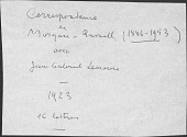 view Jean Gabriel Lemoine papers relating to Morgan Russell digital asset: Letters from Morgan Russell to Jean Gabriel Lemoine