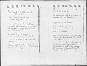 """view [Martin, Agnes], manuscript (photocopy) of """"Current of the River of Life Moves Us,"""" digital asset: [Martin, Agnes], manuscript (photocopy) of """"Current of the River of Life Moves Us,"""""""