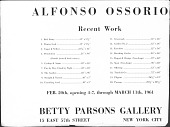 view Ossorio, Alfonso - Announcements and Catalogs digital asset: Ossorio, Alfonso - Announcements and Catalogs
