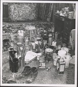 view Jackson Pollock in His Studio by Rudy Burckhardt digital asset: Jackson Pollock in His Studio by Rudy Burckhardt