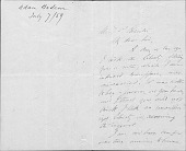 view Thomas Prichard Rossiter and Rossiter Family papers digital asset: Letters to Thomas Prichard Rossiter, A-K