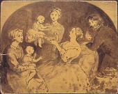 view Painting Sketch of Rossiter Family by Thomas Prichard Rossiter digital asset: Painting Sketch of Rossiter Family by Thomas Prichard Rossiter
