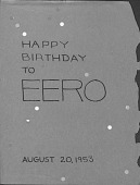 "view Aline Saarinen to Eero Saarinen, Birthday Card (""The Case-History of a Romance"") digital asset: Aline Saarinen to Eero Saarinen, Birthday Card (""The Case-History of a Romance"")"