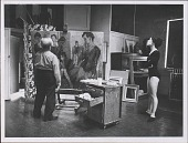 view Photographs of Moses Soyer in His Studio with Models digital asset: Photographs of Moses Soyer in His Studio with Models