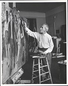 view Photographs of Raphael Soyer in His Studio digital asset: Photographs of Raphael Soyer in His Studio