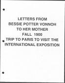 view From Bessie Potter Vonnoh to her mother, Mary Potter digital asset: From Bessie Potter Vonnoh to her mother, Mary Potter