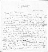 view Lulette Jenness Thompson Letters regarding Bessie Potter Vonnoh digital asset: Lulette Jenness Thompson Letters regarding Bessie Potter Vonnoh