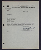 view Letter to Mrs. Elaine M. Kilbourne from American Chemical Society digital asset: Letter to Mrs. Elaine M. Kilbourne