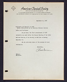 view General letter to Recipients and Sponsors of 1967 Awards digital asset: General letter to Recipients and Sponsors