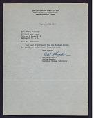view Letter to Mrs. Elaine Kilbourne from Smithsonian Institution digital asset: Letter to Mrs. Elaine Kilbourne