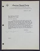 view Letter to Mrs. Elaine M. Kilbourne from American Chemical Society digital asset: Letter to Mrs. Elaine M. Kilbourne