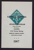 view American Chemical Society Awards Program booklet digital asset: General Meeting Awards program