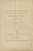 view Memorial Verse: In Memory of Isaac Brown digital asset: Memorial Verse: In Memory of Isaac Brown