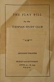 "view Program, ""Thespian Study Club"", digital asset: Program, ""Thespian Study Club"","