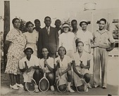 view Tuskegee Institute (University) tennis team digital asset: Dale, Almore-- Tennis tournaments