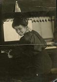 view Wilhelmina Patterson sitting at piano digital asset: Wilhelmina Patterson sitting at piano