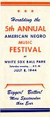 view 5th Annual American Negro Music Festival program digital asset: 5th Annual American Negro Music Festival program