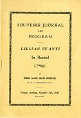 view Souvenir Journal and program, Lillian Evanti in recital, First A.M.E. Zion Church digital asset: Souvenir Journal and program, Lillian Evanti in recital, First A.M.E. Zion Church