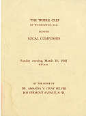 view The Treble Clef of Washington, D.C., honors local composers program digital asset: The Treble Clef of Washington, D.C., honors local composers program