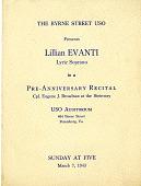 view The Byrne Street USO presents Lillian Evanti in a Pre-Anniversary Recital program digital asset: The Byrne Street USO presents Lillian Evanti in a Pre-Anniversary Recital program