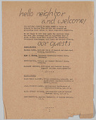 view National Council of Negro  Women flyer to welcome British war workers to America digital asset: National Council of Negro  Women flyer to welcome British war workers to America