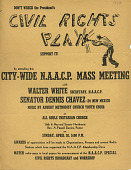 view Don't Wreck the President's Civil rights Plan. Support it! D.C. Branch, N.A.A.C.P mass meeting flyer digital asset: Don't Wreck the President's Civil rights Plan. Support it! D.C. Branch, N.A.A.C.P mass meeting flyer