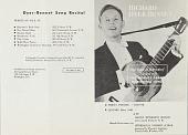 "view Richard Dyer-Bennett, ""The Voice of Minstrelsy"" program booklet digital asset: Richard Dyer-Bennett, ""The Voice of Minstrelsy"" program booklet"
