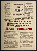 view Fifteenth St. Presbyterian Church  Mass Meeting flyer digital asset: Fifteenth St. Presbyterian Church  Mass Meeting flyer