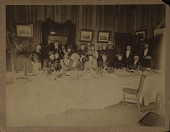 view Frederick Douglass and others at banquet table digital asset: Frederick Douglass and others at banquet table
