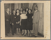 view Percival and Catherine Bryan pose with others digital asset: Percival and Catherine Bryan pose with others