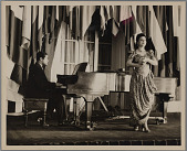 view Lillian Evanti and John Hoskins perform at the Hall of the Americas Pan American Union digital asset: Lillian Evanti & John Hoskins