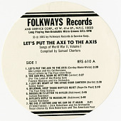 view RFS 610 Let's Put the Axe to the Axis: Songs of World War II, Volume I, compiled by Samuel Charters digital asset: RFS 610 Let's Put the Axe to the Axis: Songs of World War II, Volume I, compiled by Samuel Charters