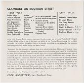 view COOK01085: Tony Almerico's Parisian Room Band, Buglin' Sam De Kemel, Red Camp, Clambake on Bourbon Street digital asset: COOK01085: Tony Almerico's Parisian Room Band, Buglin' Sam De Kemel, Red Camp, Clambake on Bourbon Street