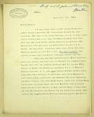 view Excavation of Samarra (Iraq): Letter to Carl Heinrich Becker, March 15, 1913, Discussing Political Activities of Persians in Baghdad digital asset: Excavation of Samarra (Iraq): Letter to Carl Heinrich Becker, March 15, 1913, Discussing Political Activities of Persians in Baghdad